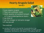 hearty arugula salad serves 1
