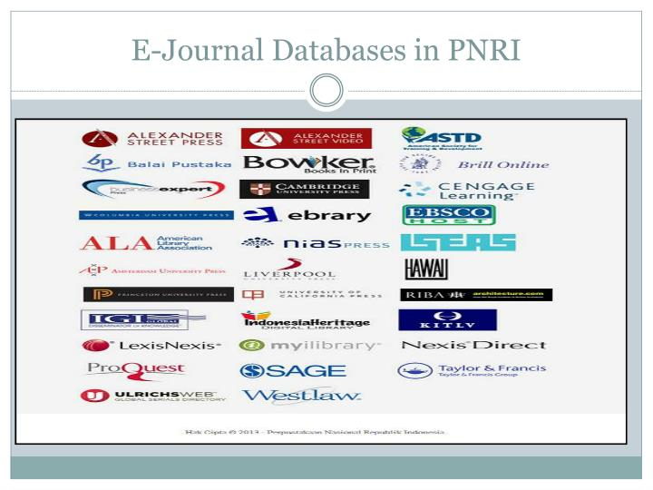 E-Journal Databases in PNRI
