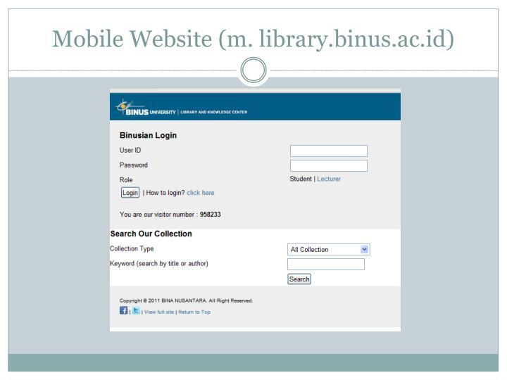 Mobile Website (m.