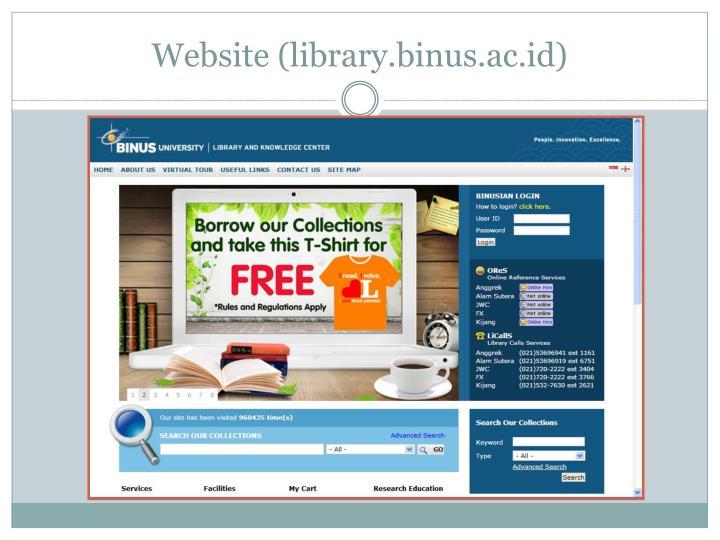 Website (library.binus.ac.id)