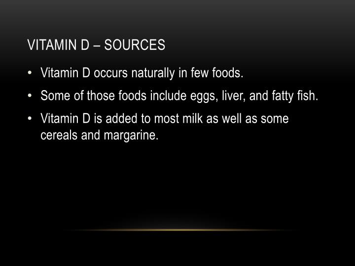 Vitamin d – sources