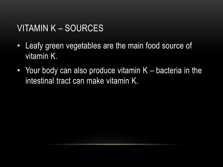 Vitamin k – sources