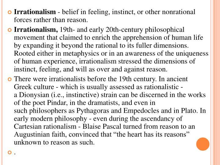 Irrationalism