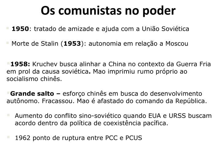Os comunistas no poder