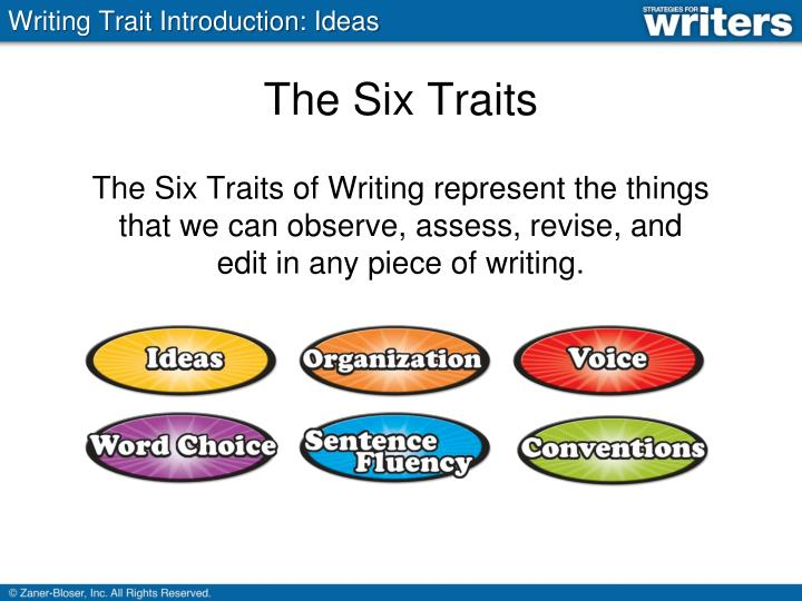 traits of writing
