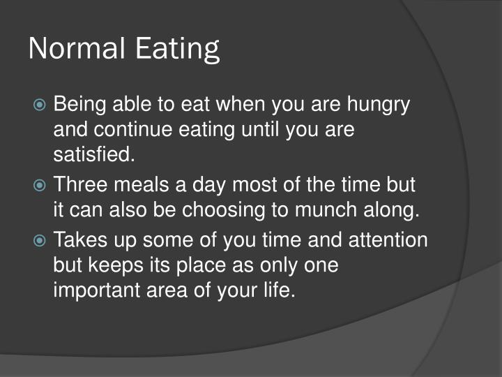 Normal Eating
