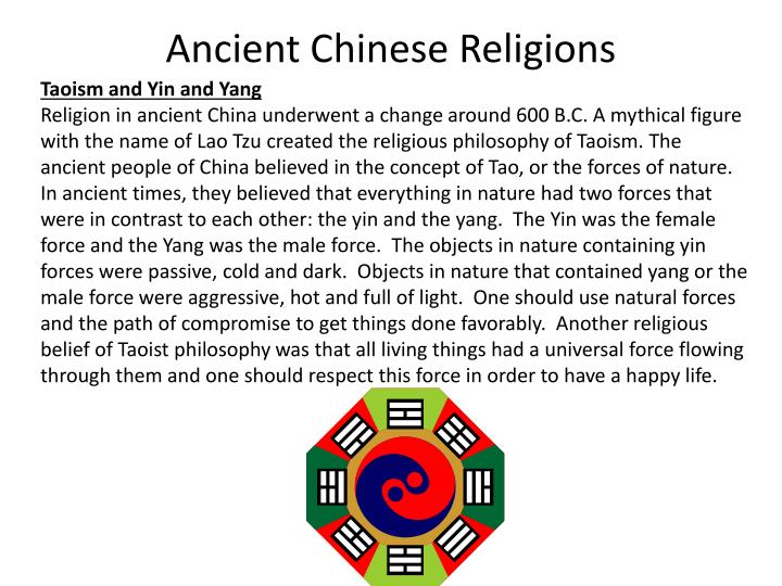 ancient china beliefs and religons Religious belief  china is a country with great diversity of religions, with over 100 million followers of the various faiths.