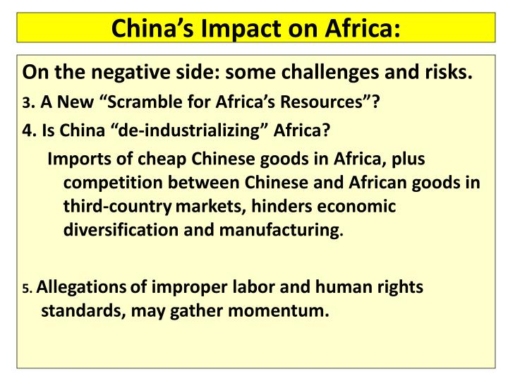 China's Impact on Africa: