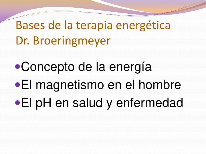Bases de la terapia energética