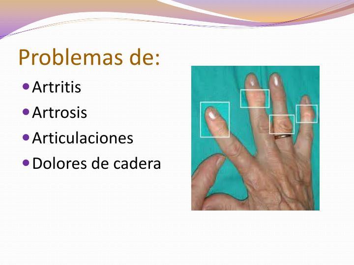 Problemas de: