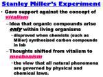 stanley miller s experiment