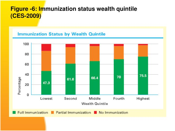 Figure -6: Immunization status wealth quintile (CES-2009)