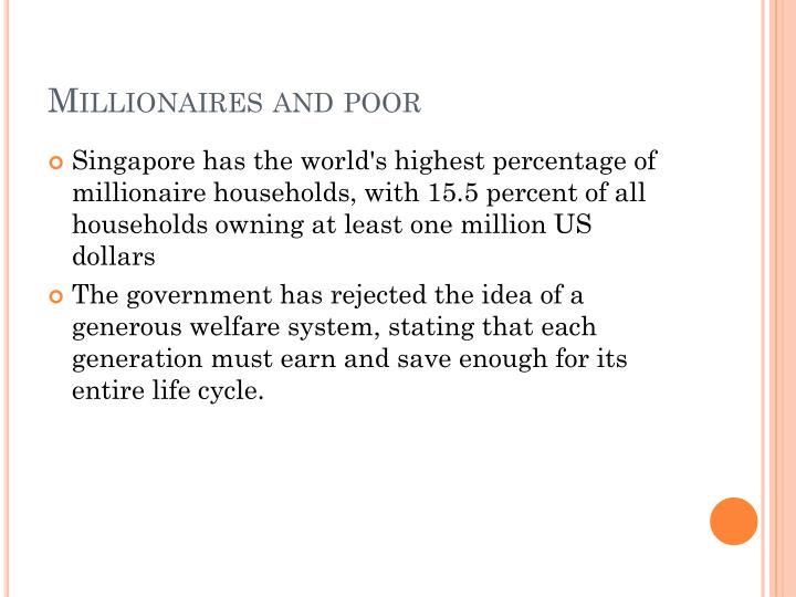 Millionaires and poor