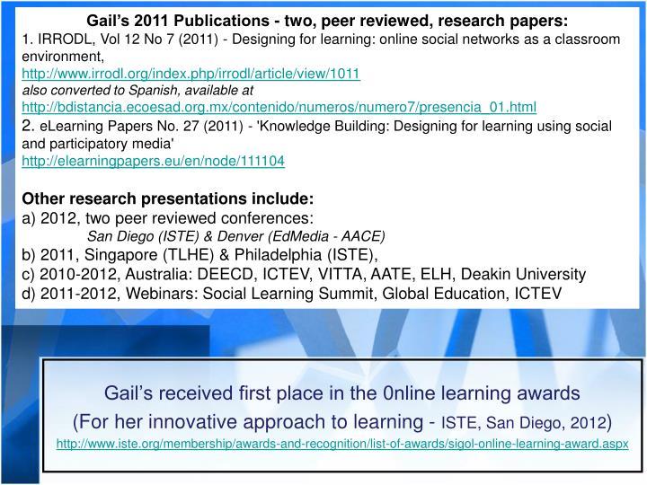 Gail's 2011