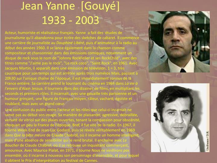 Jean Yanne  [Gouy