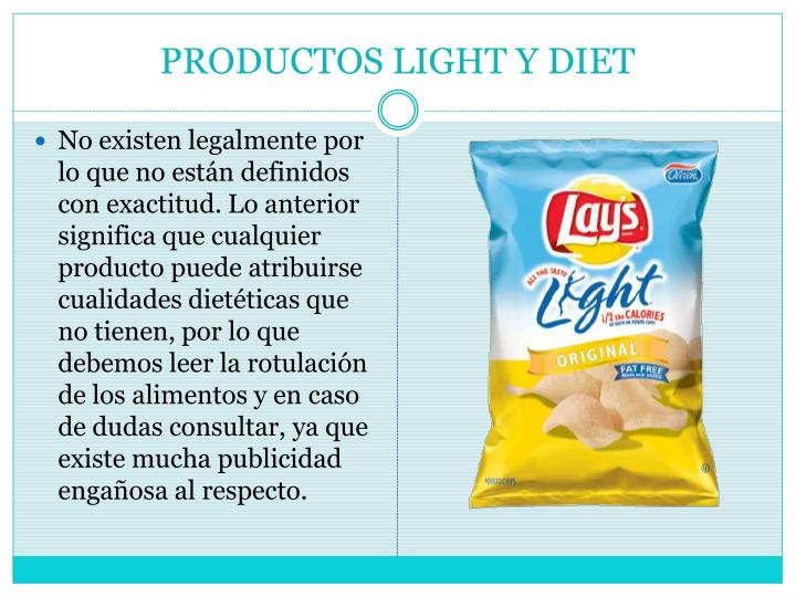 PRODUCTOS LIGHT Y DIET