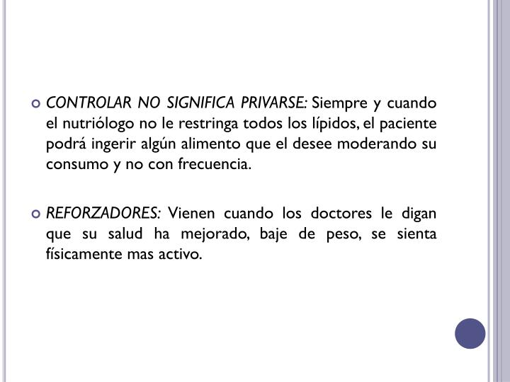 CONTROLAR NO SIGNIFICA PRIVARSE:
