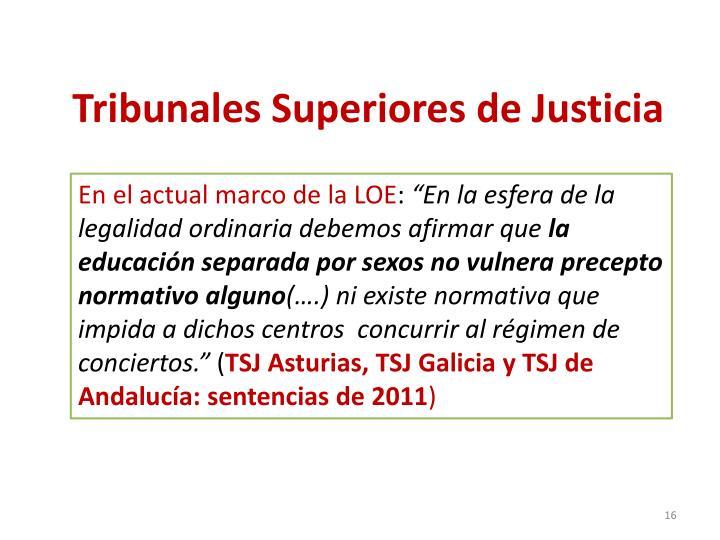 Tribunales Superiores de Justicia