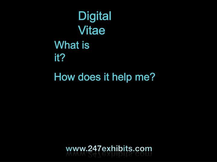 Digital Vitae