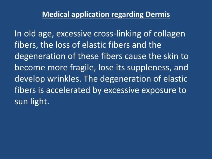 Medical application regarding Dermis