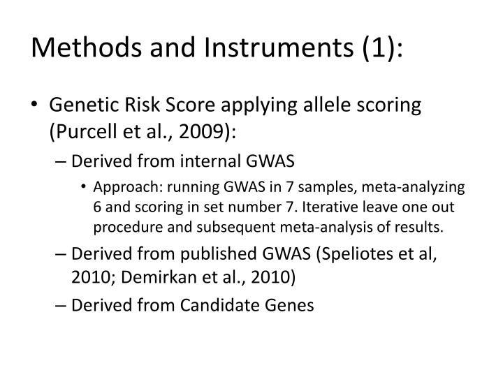 Methods and Instruments (1):