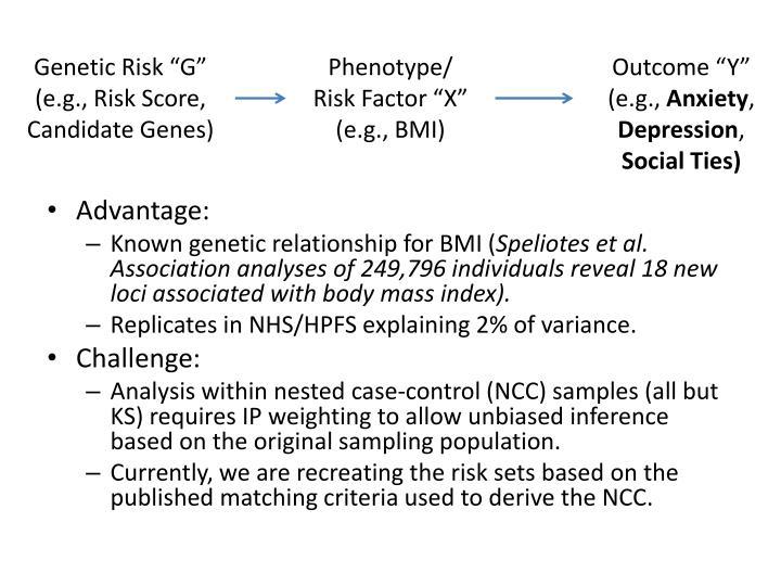 """Genetic Risk """"G"""""""