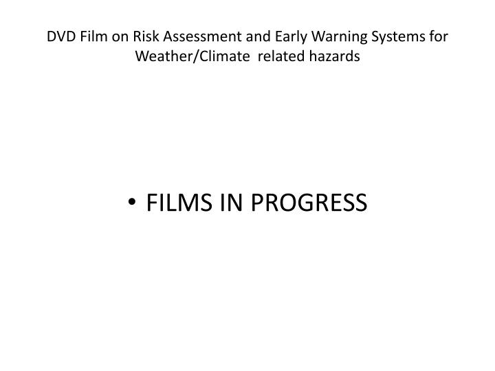 DVD Film on Risk