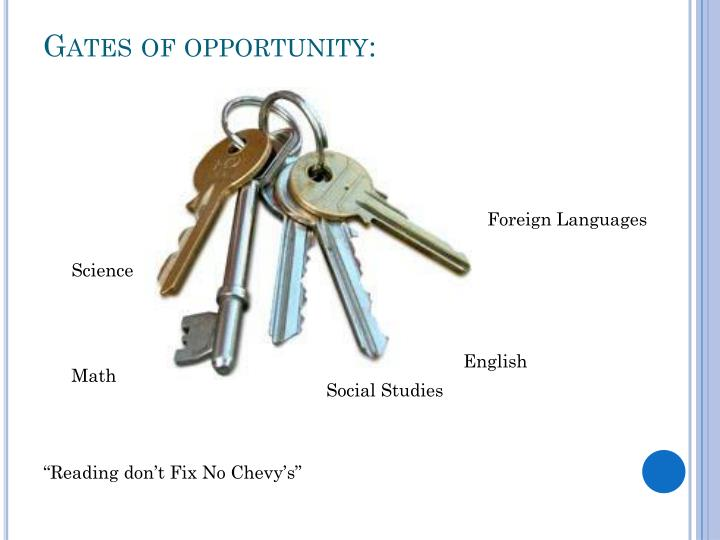 Gates of opportunity:
