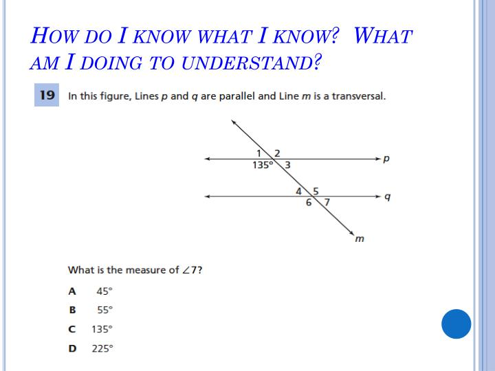 How do I know what I know?  What am I doing to understand?