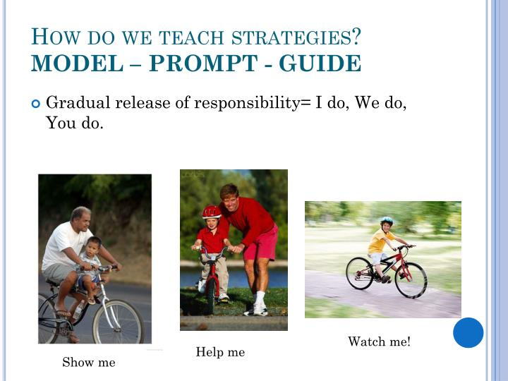 How do we teach strategies?
