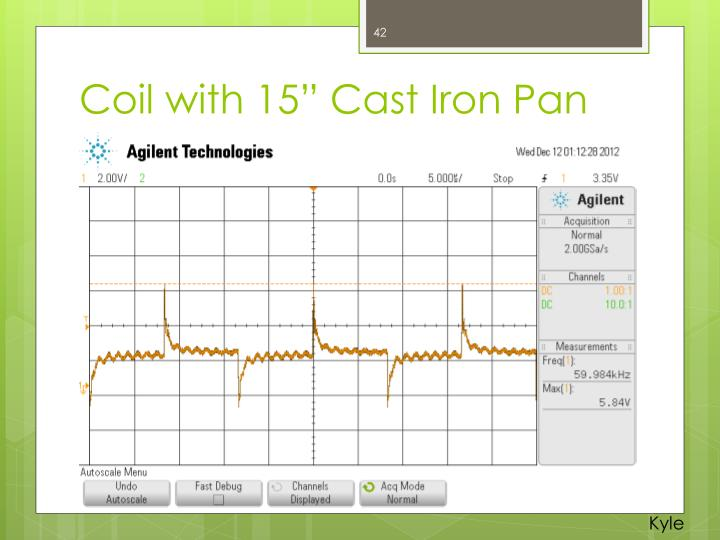 """Coil with 15"""" Cast Iron Pan"""