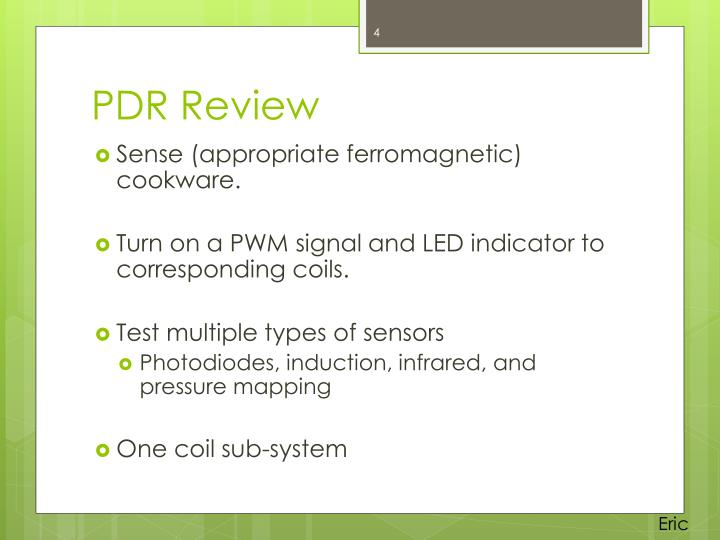PDR Review