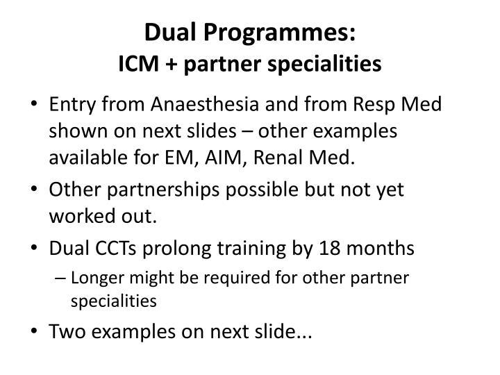Dual Programmes: