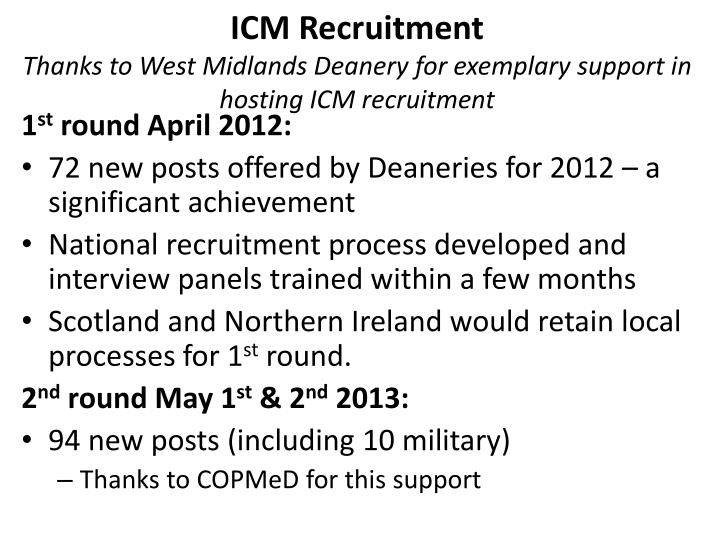 ICM Recruitment