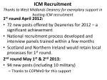 icm recruitment thanks to west midlands deanery for exemplary support in hosting icm recruitment