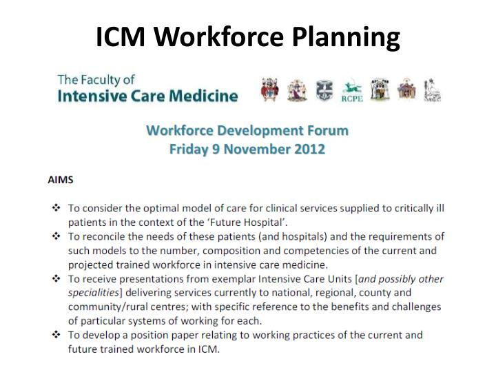 ICM Workforce Planning