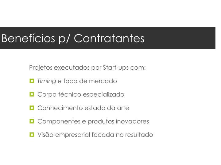 Benefícios p/ Contratantes