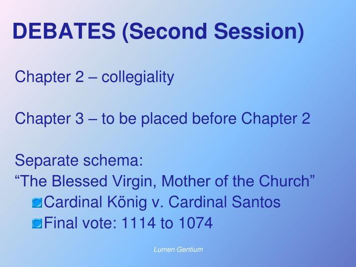 DEBATES (Second Session)