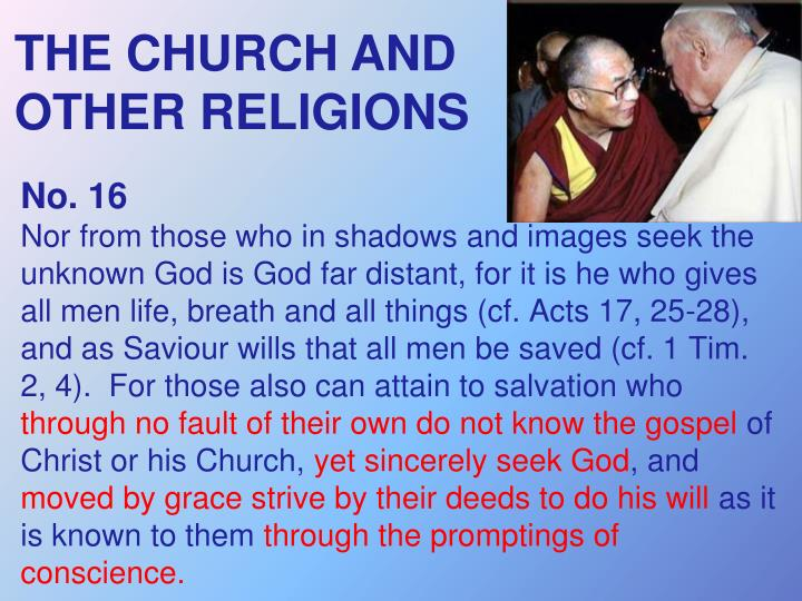THE CHURCH AND OTHER RELIGIONS