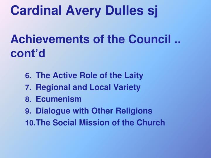Cardinal Avery Dulles sj