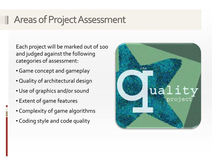 Areas of Project Assessment