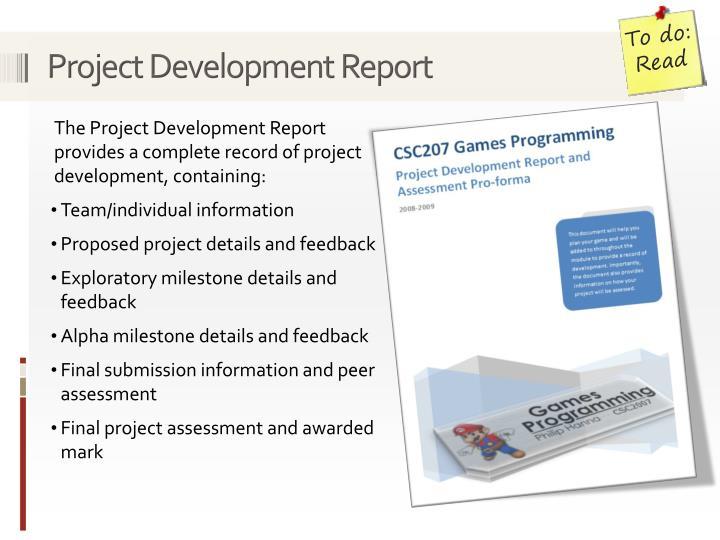 Project Development Report