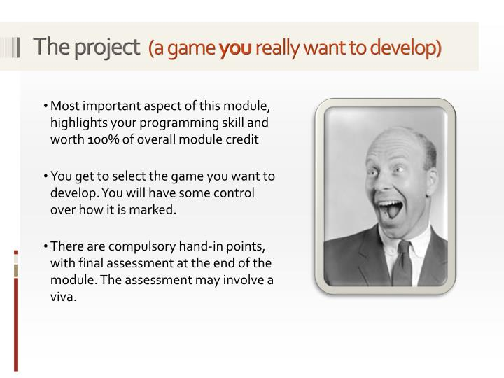 The project a game you really want to develop