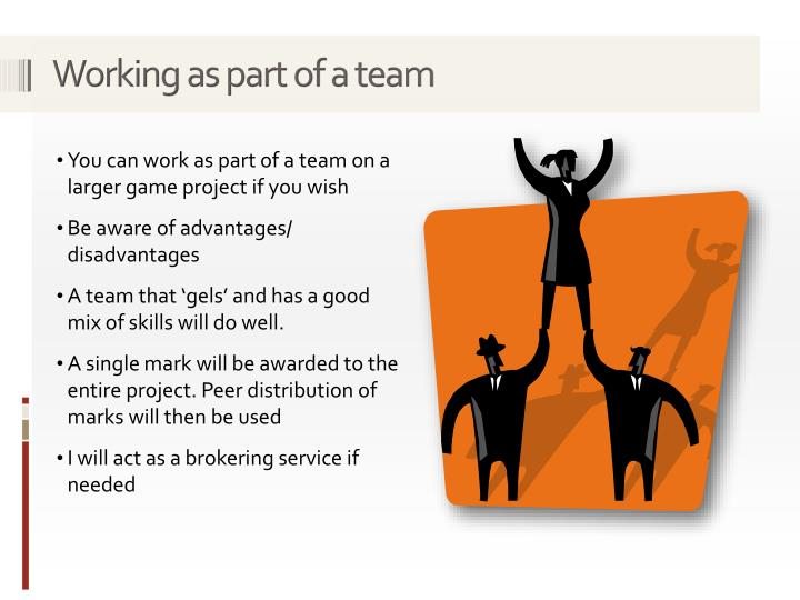 Working as part of a team