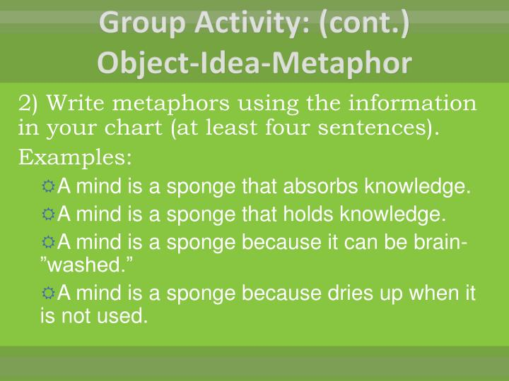 Group Activity: (cont.)