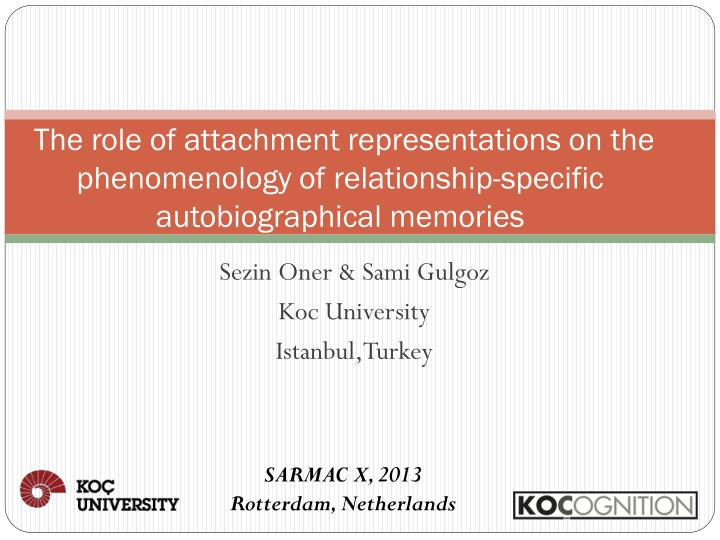The role of attachment representations on the phenomenology of relationship-specific autobiographic...
