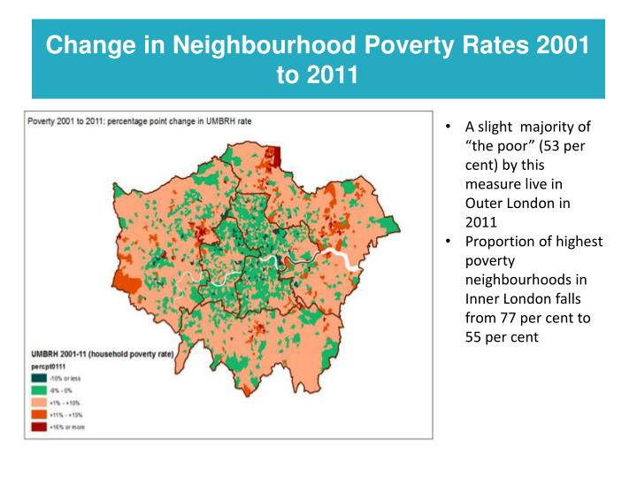 Change in Neighbourhood Poverty Rates 2001 to 2011