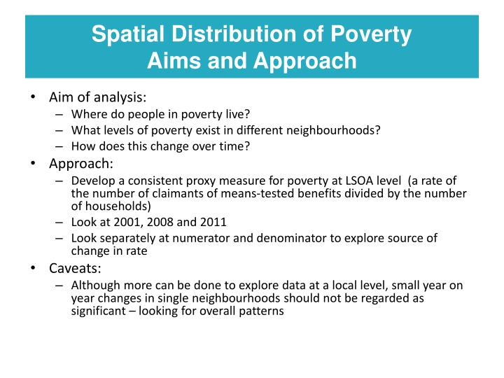 Spatial Distribution of Poverty