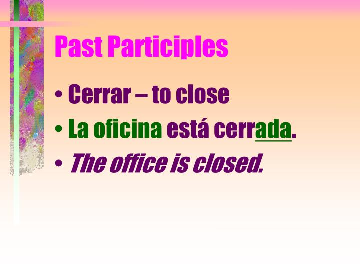 Past Participles