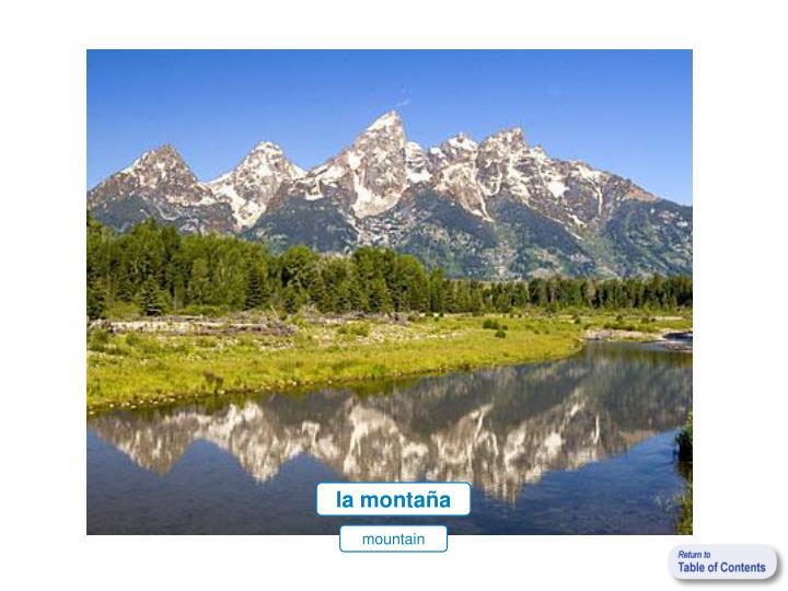 la montaña